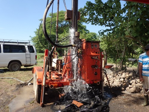 Purging the water well.