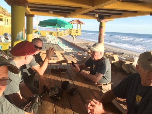 Team at Beach Table
